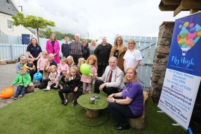 Douglas Campbell Leader of South Ayrshire Council opened the new childrens nursery