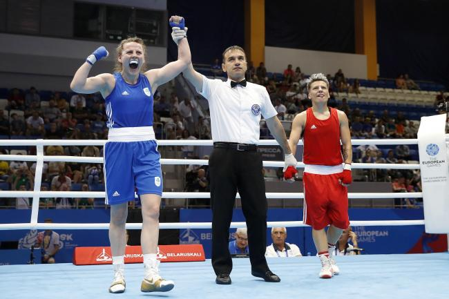 Michaela Walsh won her first bout at the European Games in Minsk