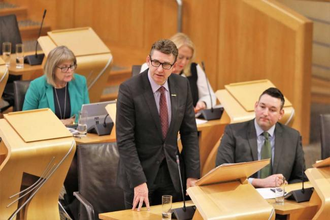 Brian Whittle MSP during First Minister's Questions about raising awareness of the early symptoms of Lyme disease.