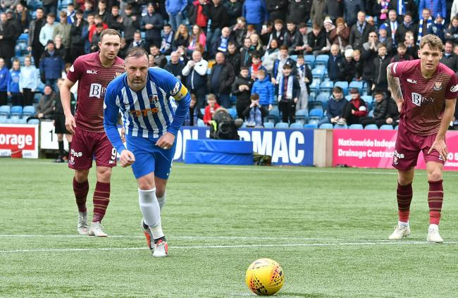 Kris Boyd scores from the penalty spot for Killie.
