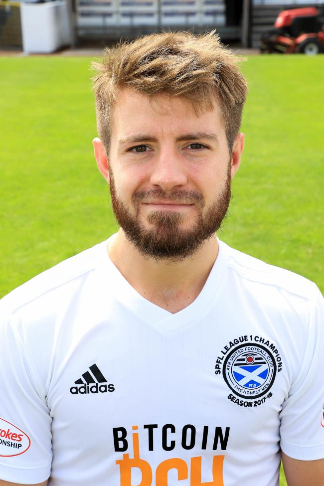 Ayr skipper Ross Docherty missed a couple of good chances.