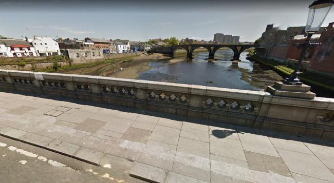 Man rescued after being on 'wrong side of bridge' over River Ayr