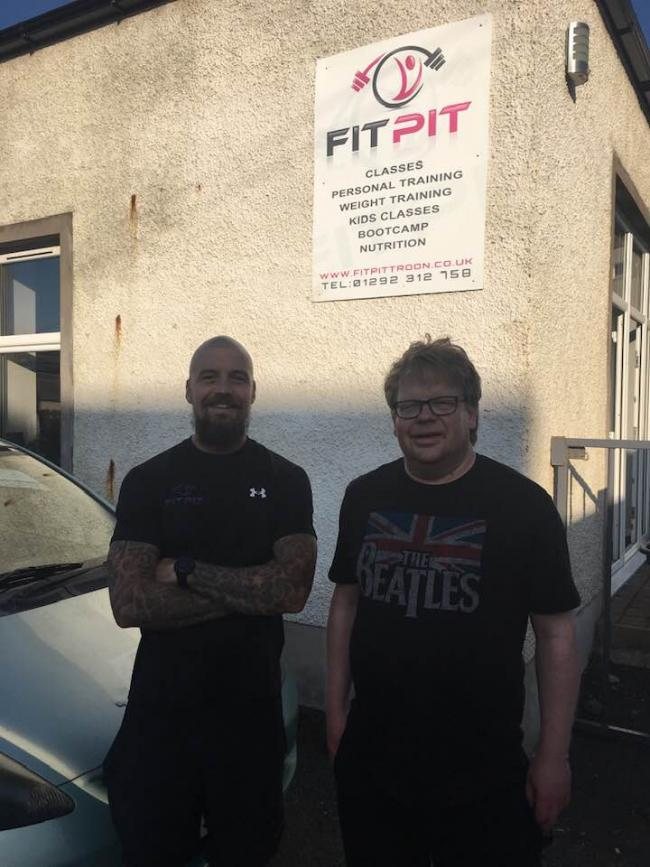 Stewart McConnell with Brian Miligan at the Fit Pit