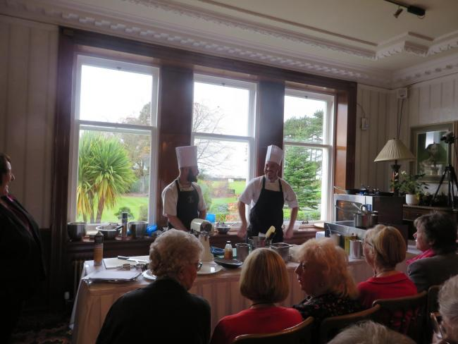 The Master Chefs in action at a previous Hansel Ladies Lunch.