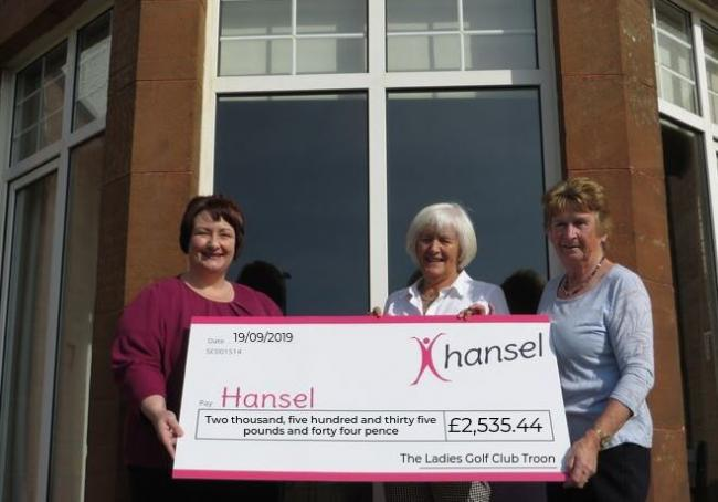 Troon ladies golf were delighted to raise £2.535.44