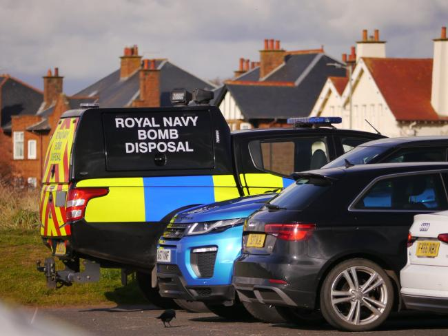 Bomb disposal unit carry out 'controlled explosion' on Troon Beach