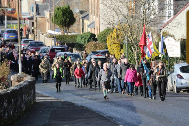 Dalmellington pays its respects to the fallen