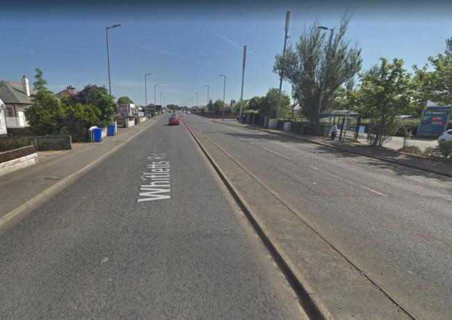 Ayr road closed after woman hit by vehicle