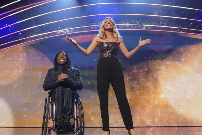Co-hosts Ade Adepitan and Tess Daly