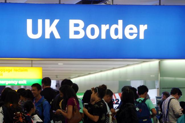 UK Border stock