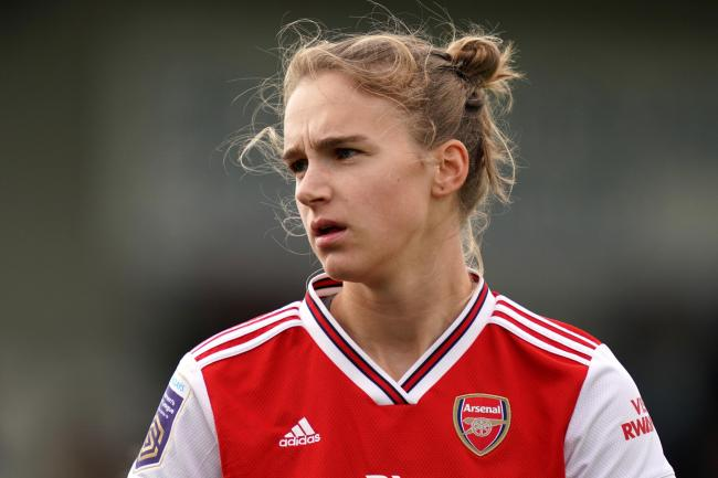Vivianne Miedema scored as Arsenal won in front of a record crowd