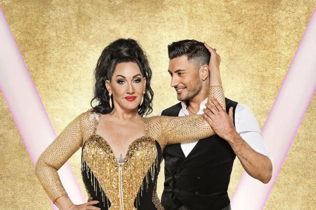 Michelle Visage with her dance partner Giovanni Pernice