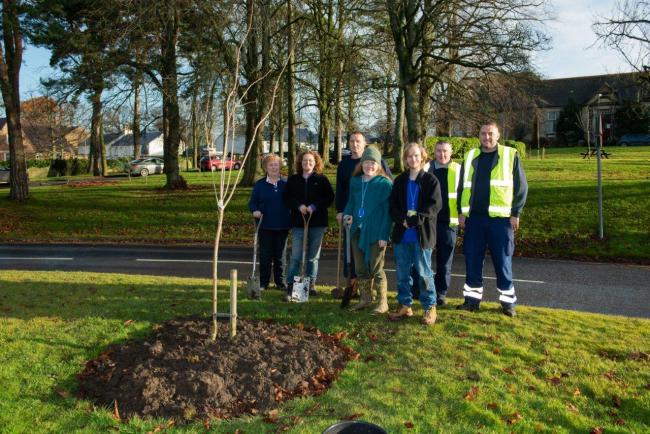 Volunteers plant trees at Ayr Hospital for national campaign
