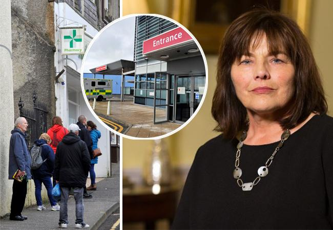 Queues outside pharmacies this weekend, local healthboards will open coronavirus community hubs, Jean Freeman explained.