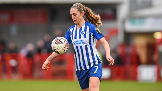 Aileen Whelan in action (Credit Brighton & Hove Albion FC/Kyle Hemsey)