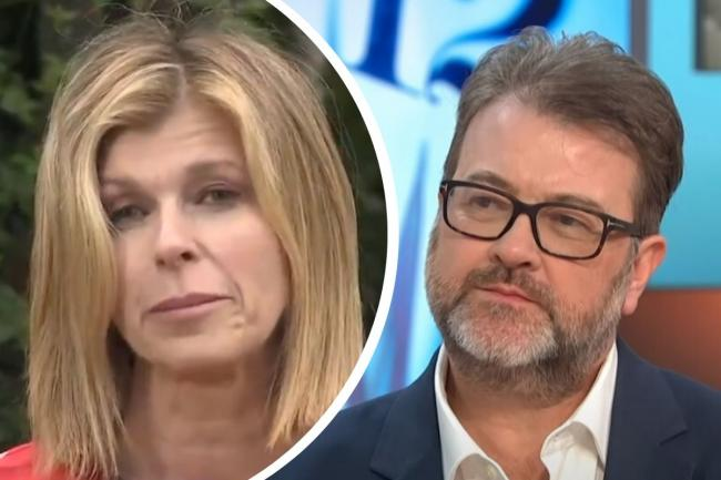 Good Morning Britain presenter Kate Garraway gives update on husband Derek Draper. Pictures: ITV/GMB