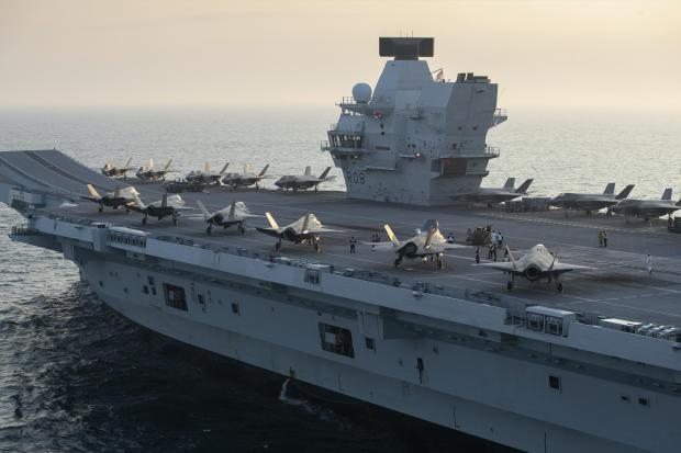 Ayr Advertiser: Two squadrons of F-35B stealth jets aboard the Royal Navy carrier HMS Queen Elizabeth