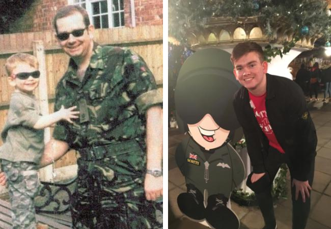 Ayr lad walks in memory of his hero dad killed in Iraq