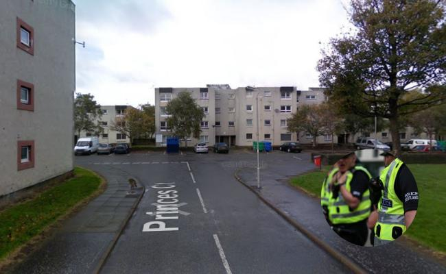 Man and woman hospitalised after deliberate blaze in Ayr flats