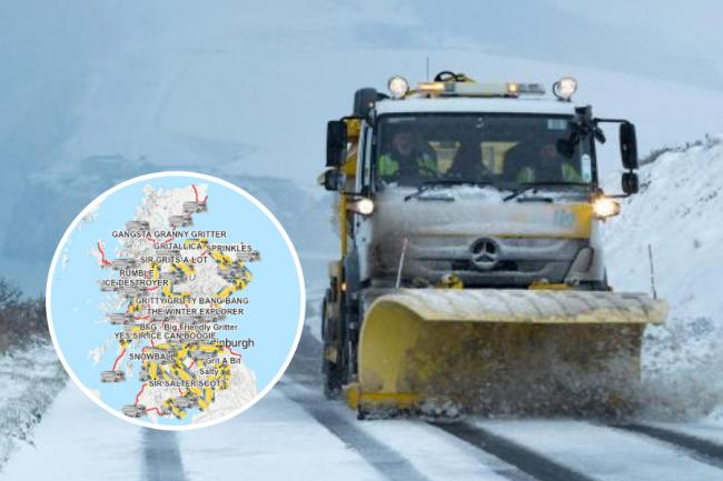 The names of Scotland's hilarious gritters — Here's how to track them