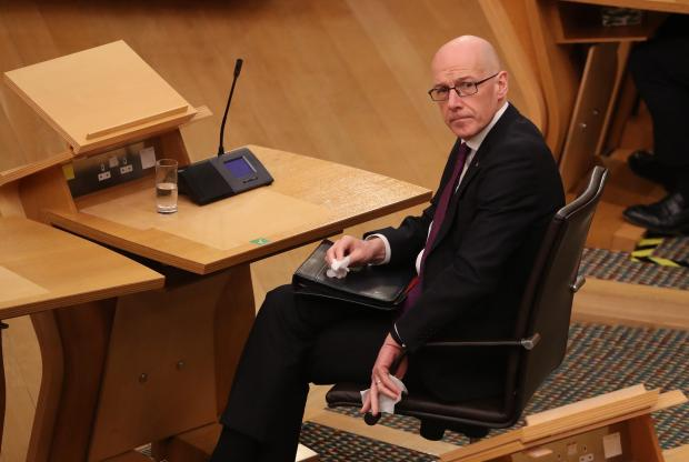 Ayr Advertiser: Deputy First Minister John Swinney during a ministerial statement in the Scottish Parliament.