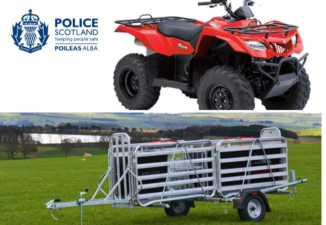 Thieves steal thousands of pounds worth of farm equipment over Christmas