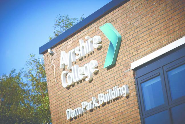 Ayrshire College students won't be heading back any time soon.