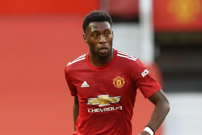 Manchester United defender Timothy Fosu-Mensah in action