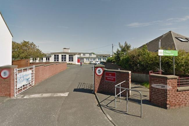 Emergency services attend to a fire at Prestwick primary school