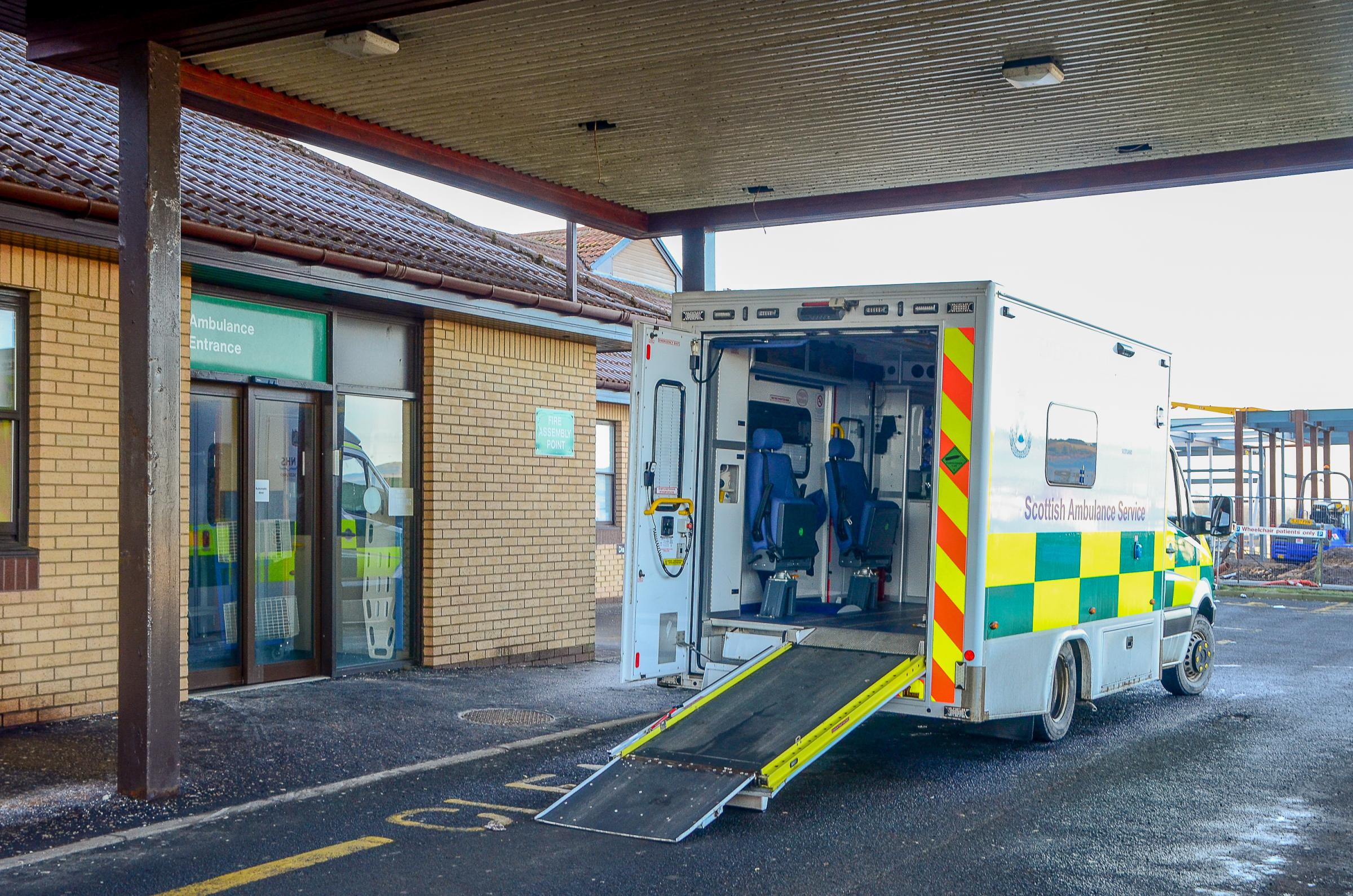 Teen found with knife at Ayr's A&E