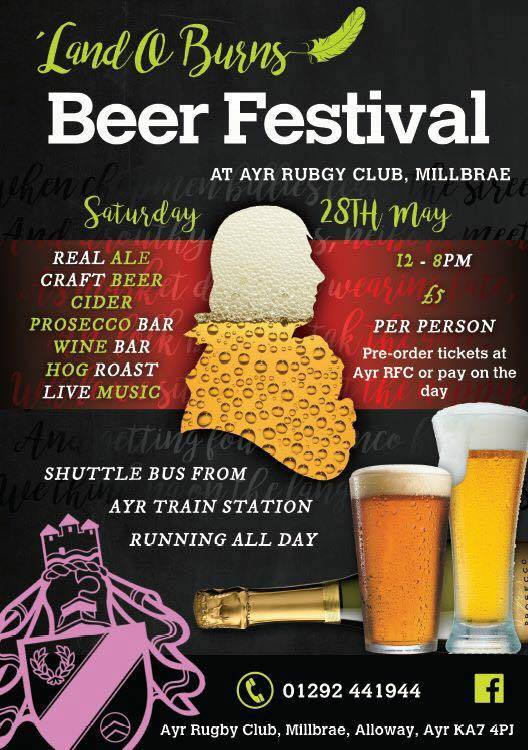 Rugby club's beer festival plans left up in the Ayr