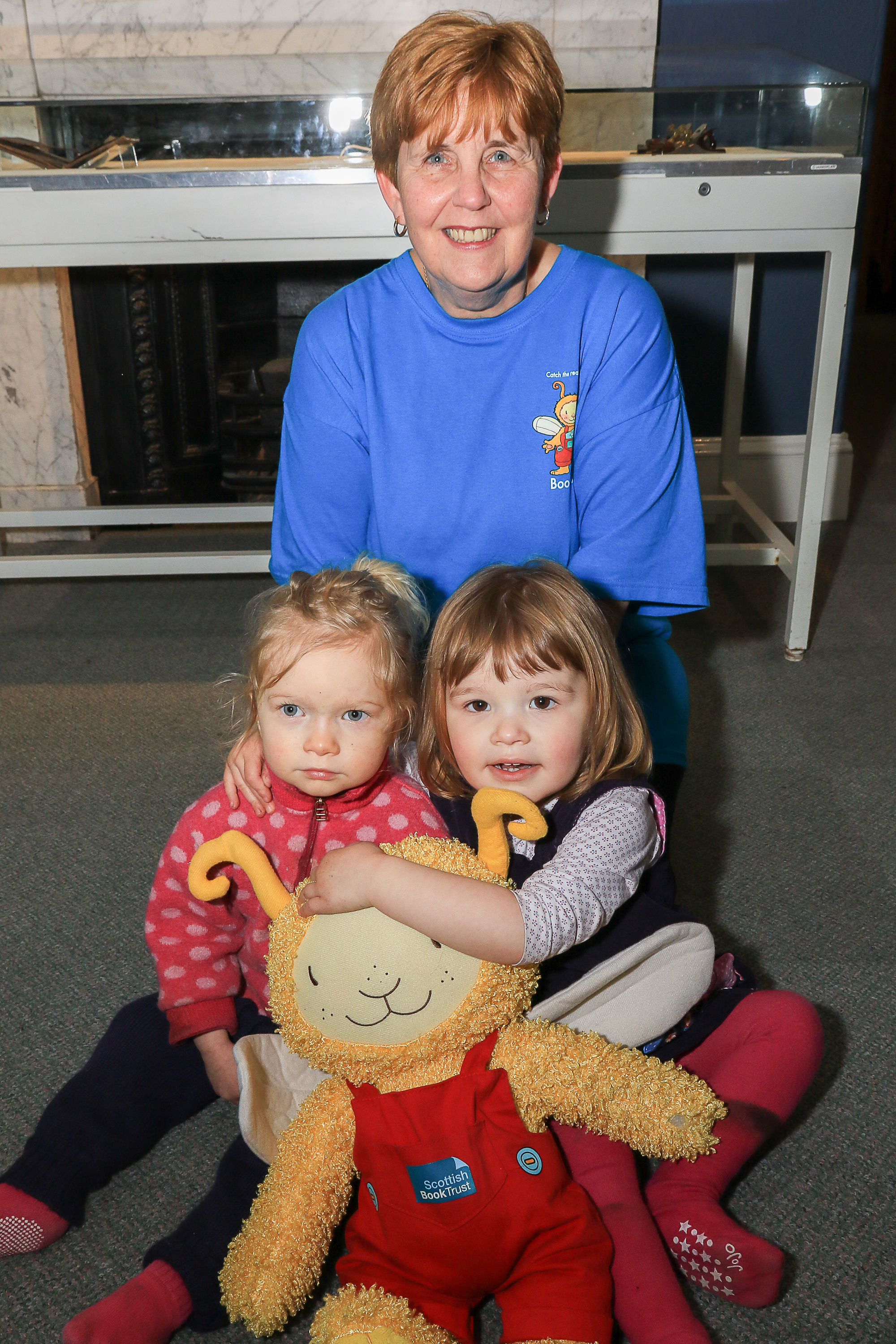FULLY BOOKED: Pictured at Bookbug Storytime are storyteller, Renee Gillan with Ella-Rose Hamalainen and Isobel Herbert.