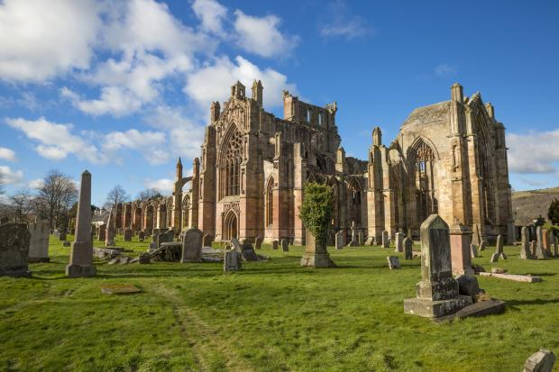 Ayr Advertiser: Melrose Abbey remains the most popular paid-for attraction in the Borders