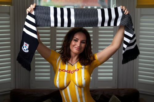 Body paint is again all the rage for Ayr United
