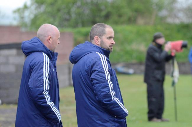 Glens manager Craig McEwan (right) and assistant Craig Potter (left)