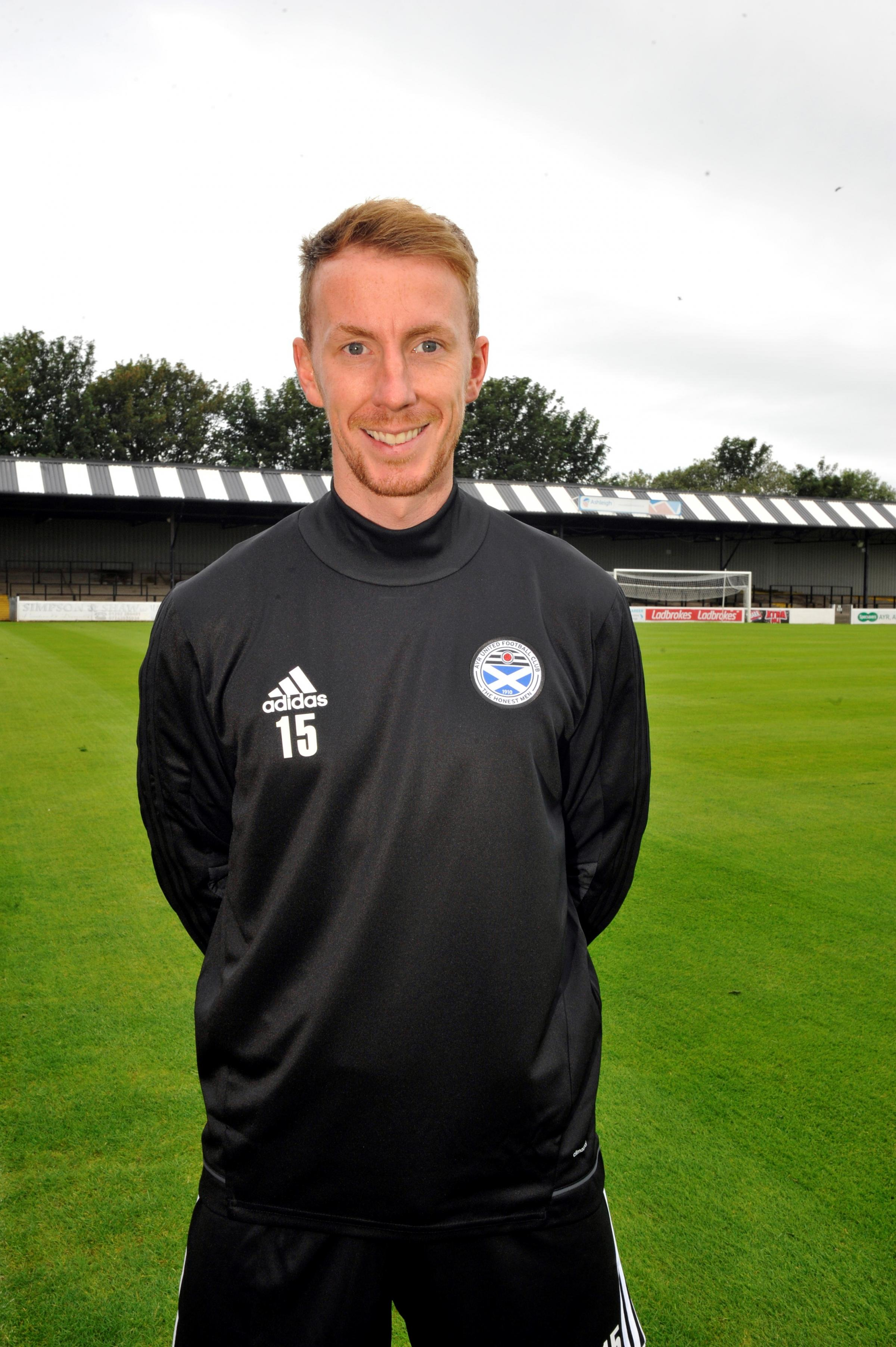 FIT AGAIN: Craig Reid hopes to feature for the Honest Men against Raith tonight (Tuesday).
