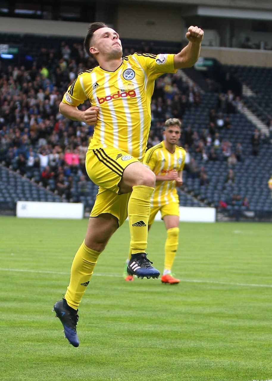 ON TARGET: Lawrence Shankland was on target for Ayr.