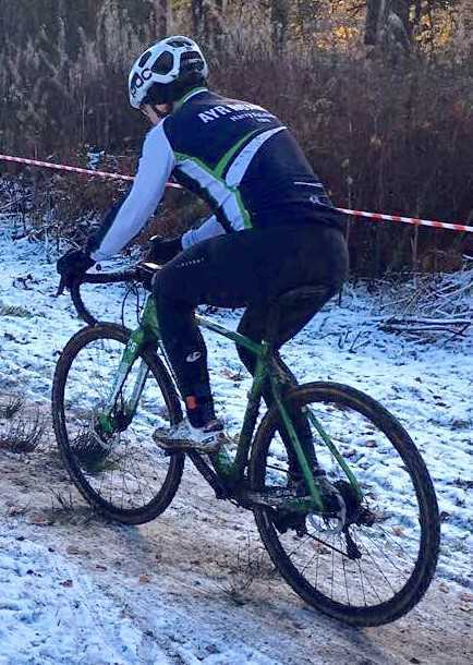 CYCLOCROSS CHALLENGE: Alex McAllister is pictured in action at Plean Park, Stirling.
