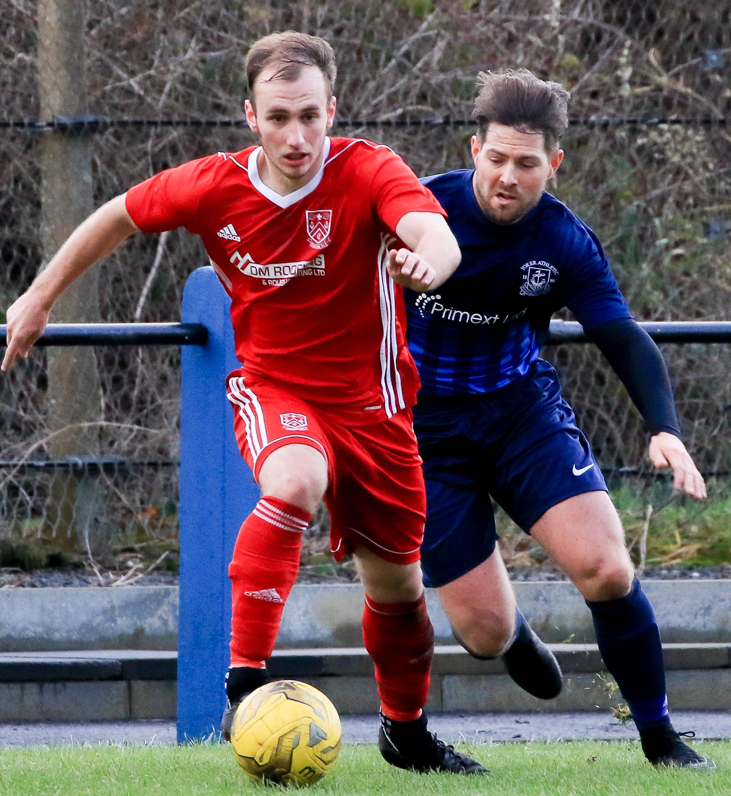 EXIT AGONY: Troon (left) lost their Scottish Cup tie to Yoker.