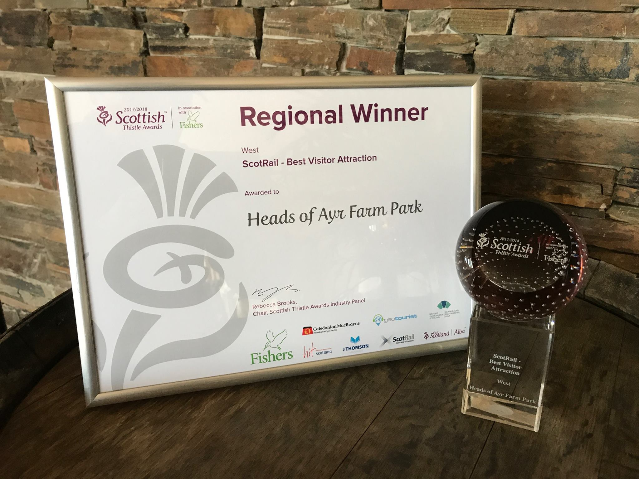 Heads of Ayr Farm Park award