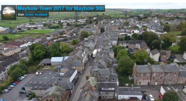 Drone footage displays Maybole Bypass and town history