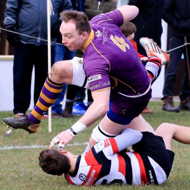 BRAVE EFFORT: Marr beat Stirling County, but it was not enough to assure survival in the top flight.