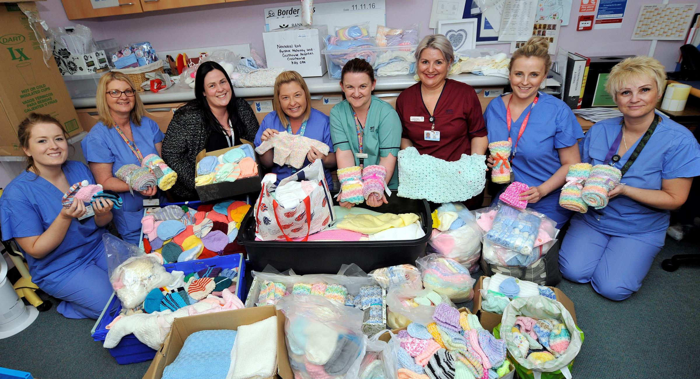 Knitters come to the rescue of flooded maternity unit