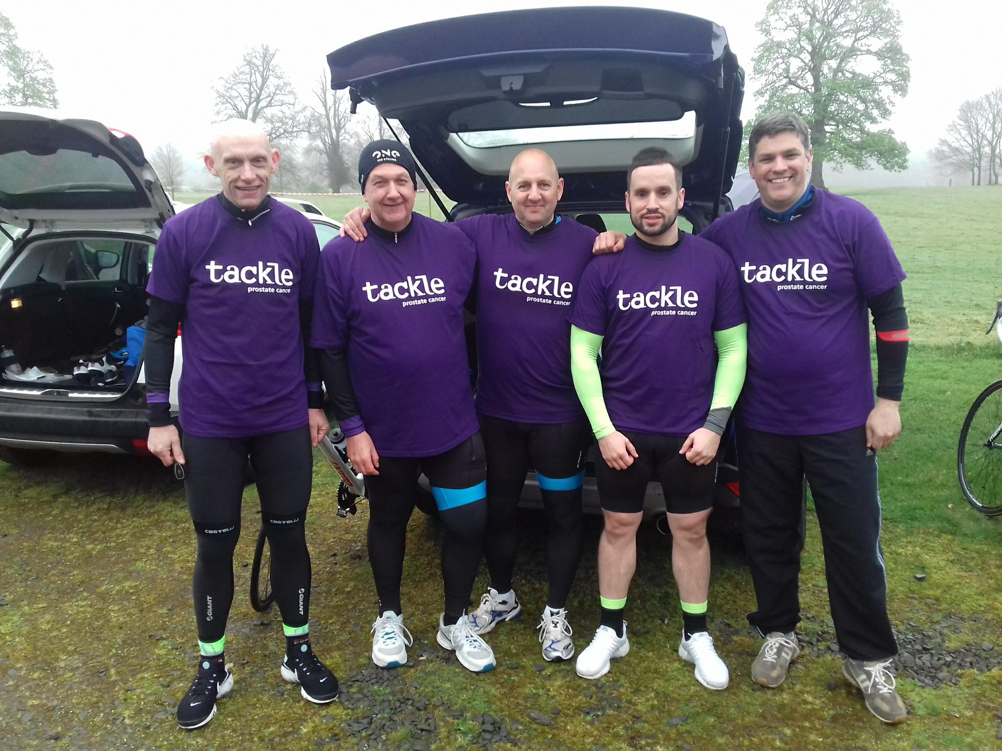 Cycle team tackle challenge for charity