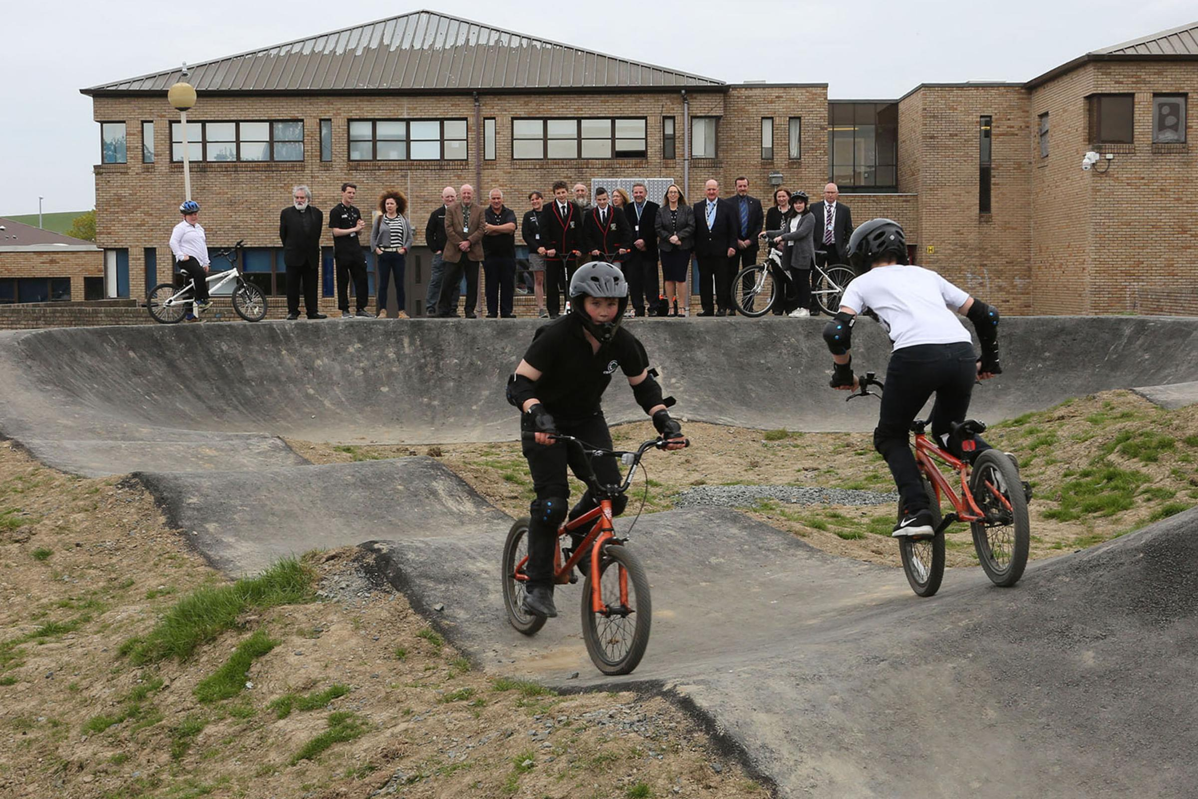 New: BMX track opens at Girvan school.