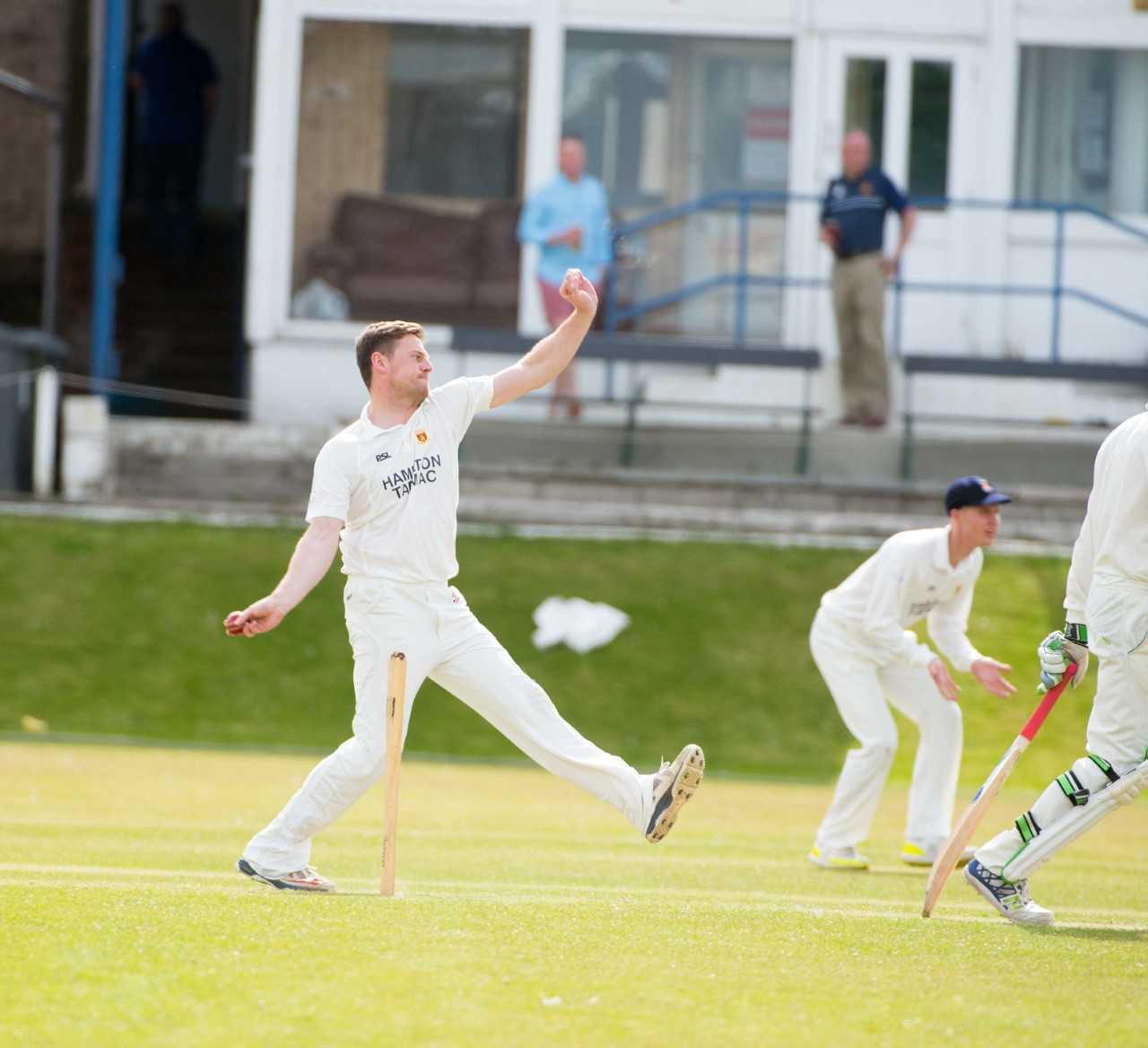 SPIRITED DISPLAY: The Prestwick bowling attack gave Greenock a torrid time.