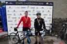 TOUGH CHALLENGE: Andy Conway en route in the Etape