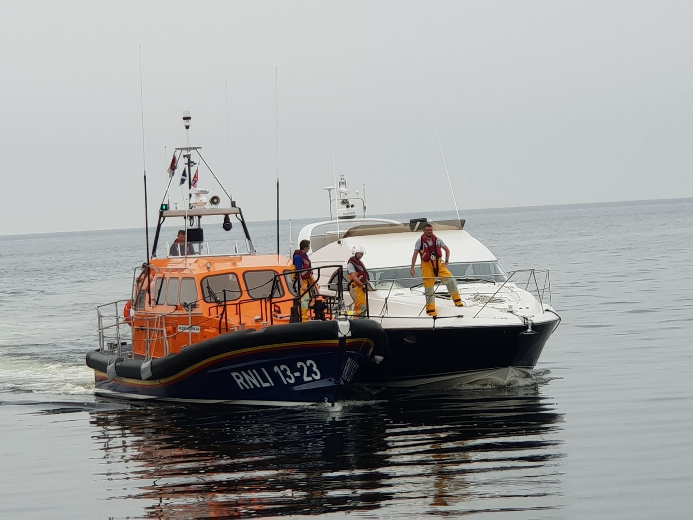 Girvan's new lifeboat on its maiden callout
