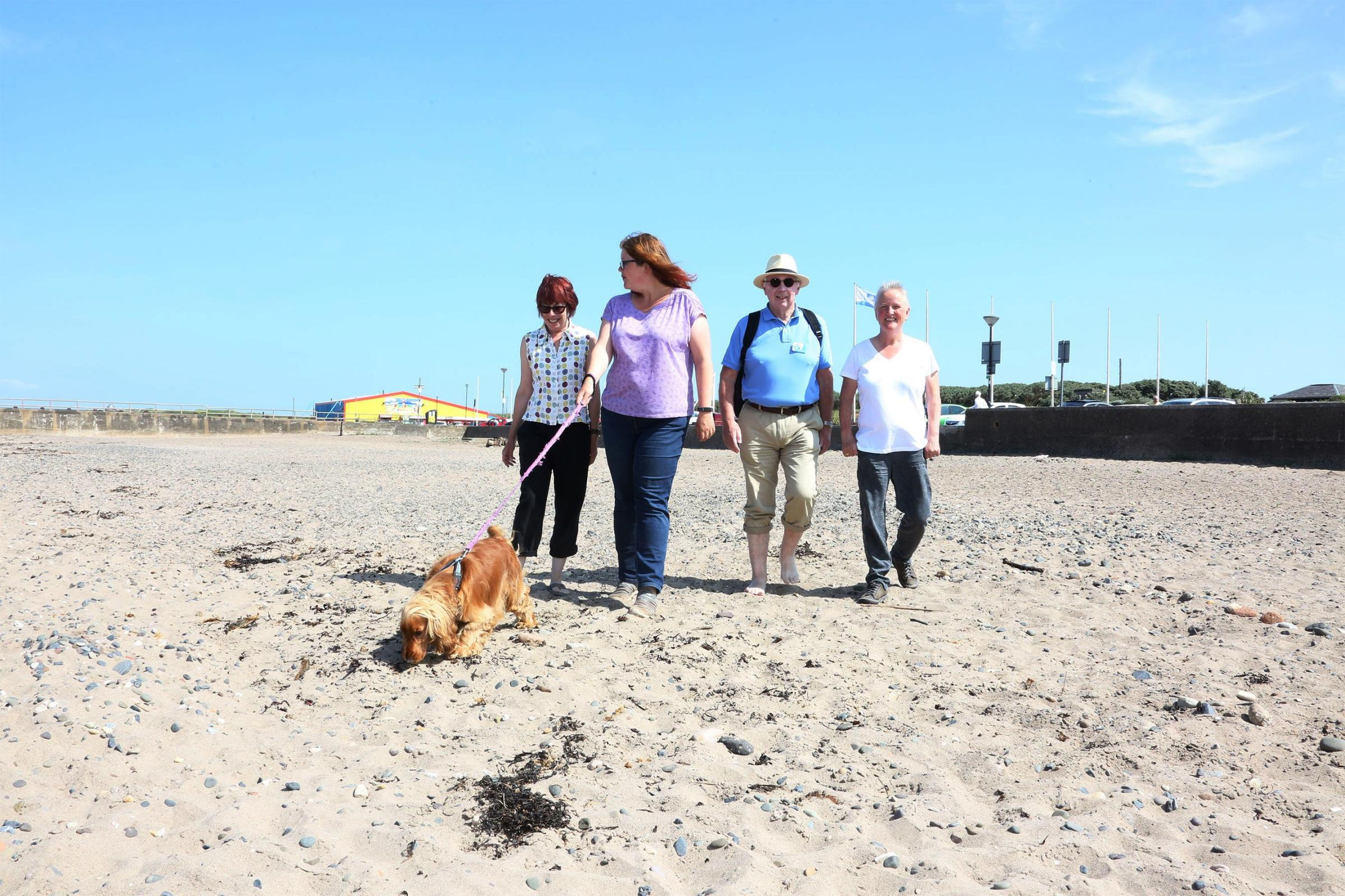 Assisted walk for Dementia Awareness Week at Prestwick
