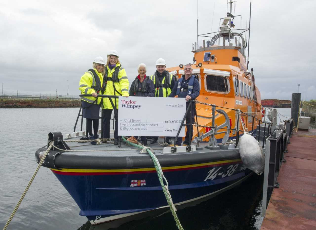 Boost for Troon RNLI Lifeboat Station